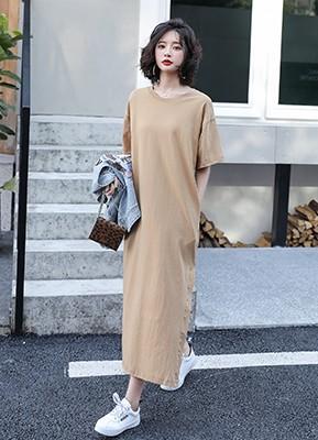 MWD9060P 短袖直筒连衣裙