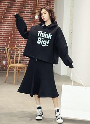 MWS8037B加厚卫衣+半身裙两件套(停产)