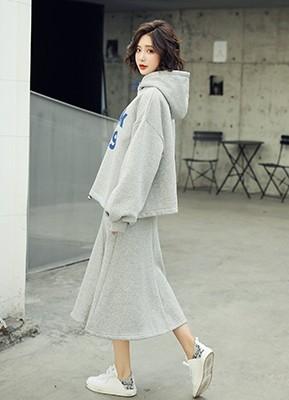 MWS8037C加厚卫衣+半身裙两件套(停产)