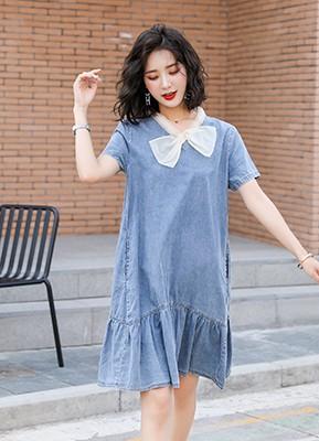 MW9135 蝴蝶节牛仔连衣裙
