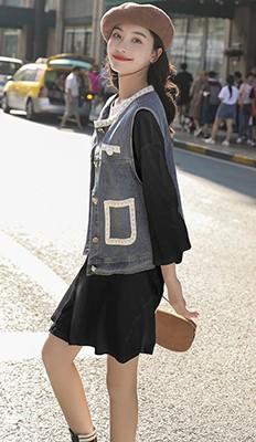 MW9200B 牛仔马甲+连衣裙套装(促销)