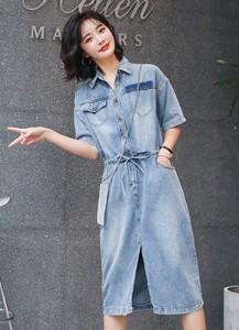 MWD9032 短袖牛仔连衣裙【主推爆款】