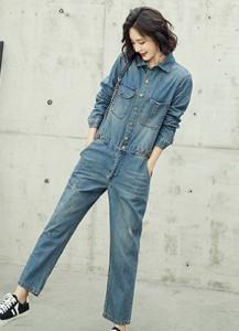MWP8041D长袖牛仔连体裤【主推爆款】