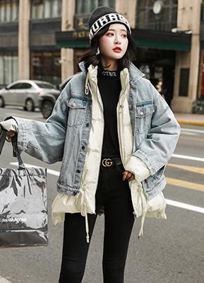MW9502A 羽绒服+牛仔外套两件套