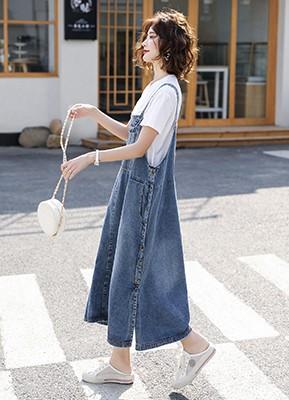 MW0064A T恤+牛仔背带裙两件套(预计5月30日发货)