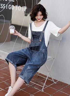 MW1066 背带裤+T恤两件套